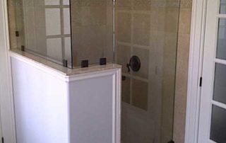 custom glass shower installations